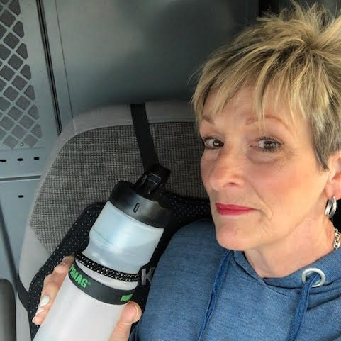 Jeannie w/ her Nikken PiMag Sports Bottle