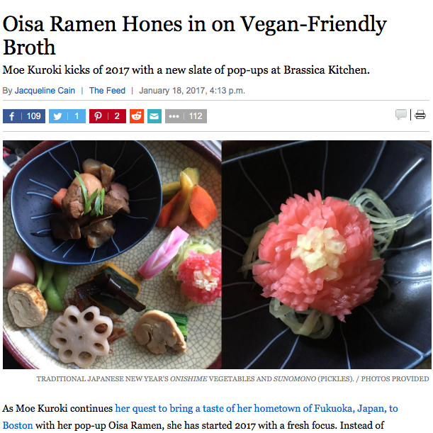 Oisa Ramen Horns in on Vegan-Friendly Broth