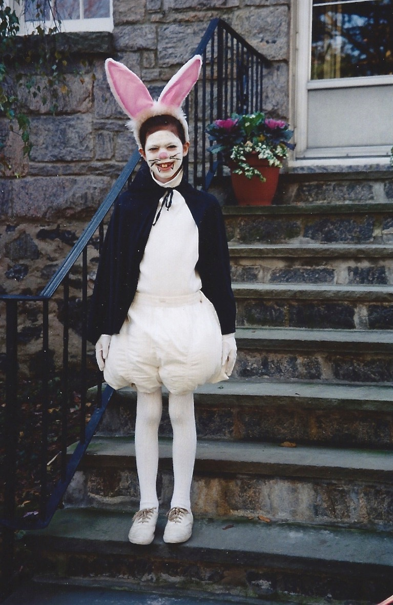 And here she is, six years later, dressed as Bunnicula for Halloween!