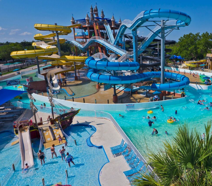 Schlitterbahn water park in New Braunfels, Texas, is a playground of water for kids of all ages.