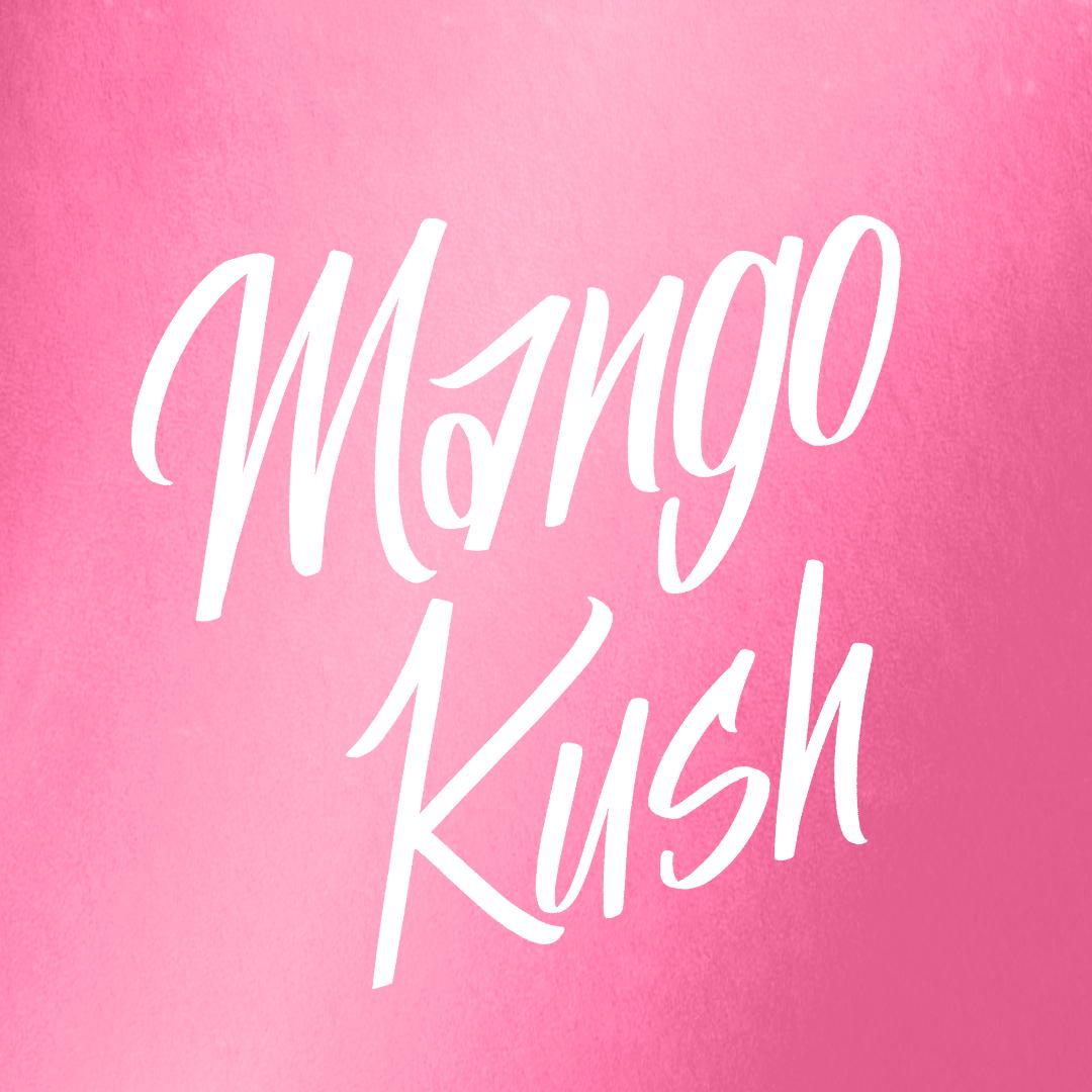 Indica      Genetics   Mango x Hindu Kush     Characteristics   Tastes similar tothe actual mango fruit, with a distinct kush flavorand hints of pine on the exhale.