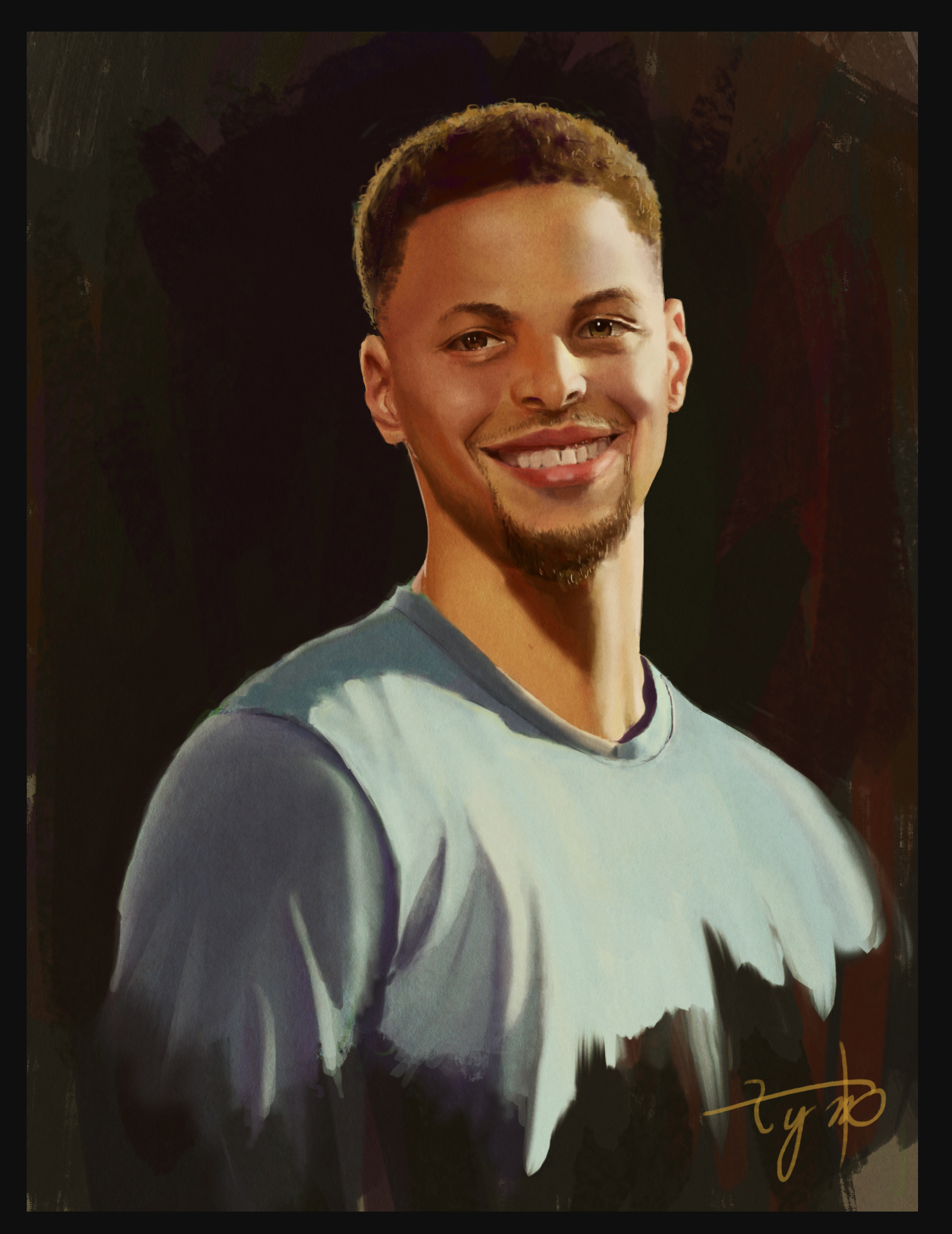 Digital Portrait: Stephen Curry - MVP from Golden State Warriors