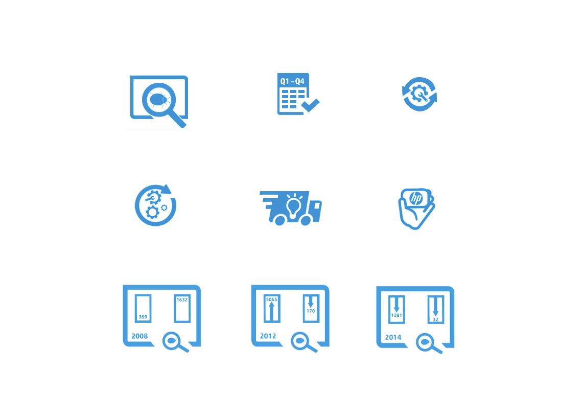 Icon Design - HP (Hewlett-Packard)