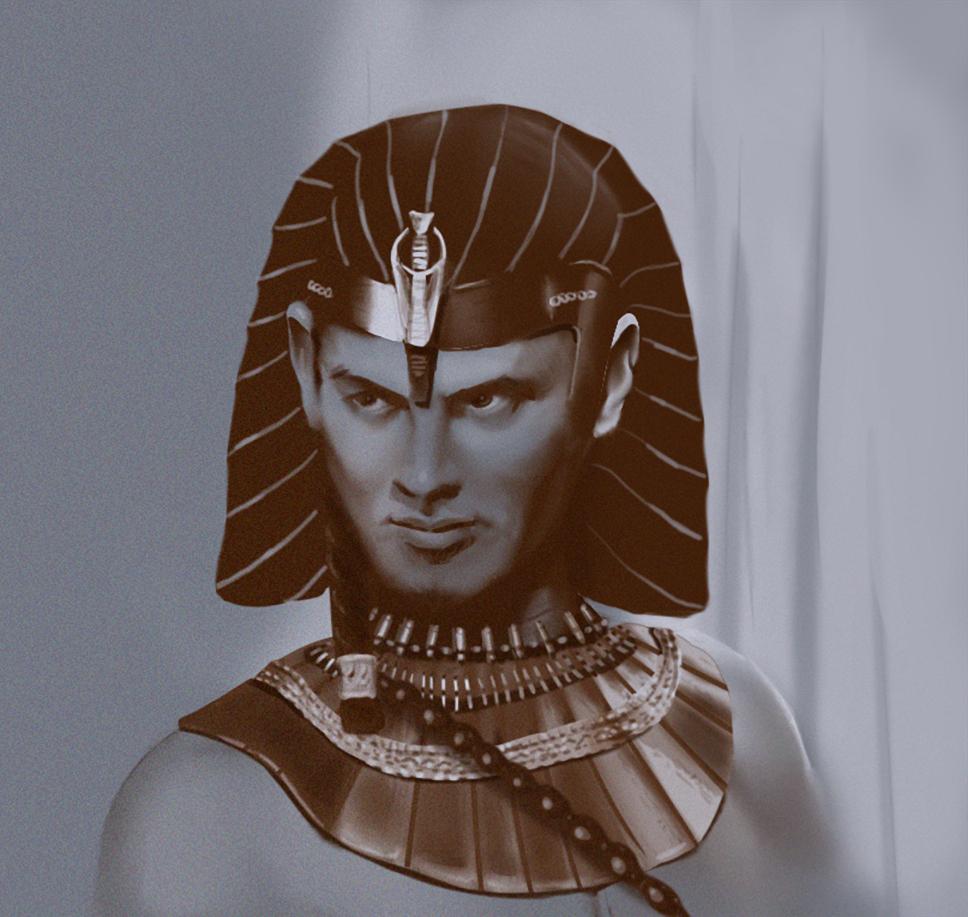 Digital Portrait: Pharaoh from The Ten Commanders -