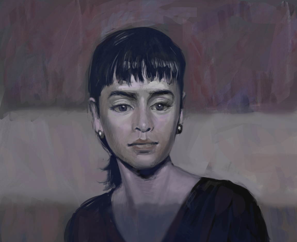 Digital Portrait:Qi'Ra - Sketch of Qi'Ra from Solo: A Star Wars Story