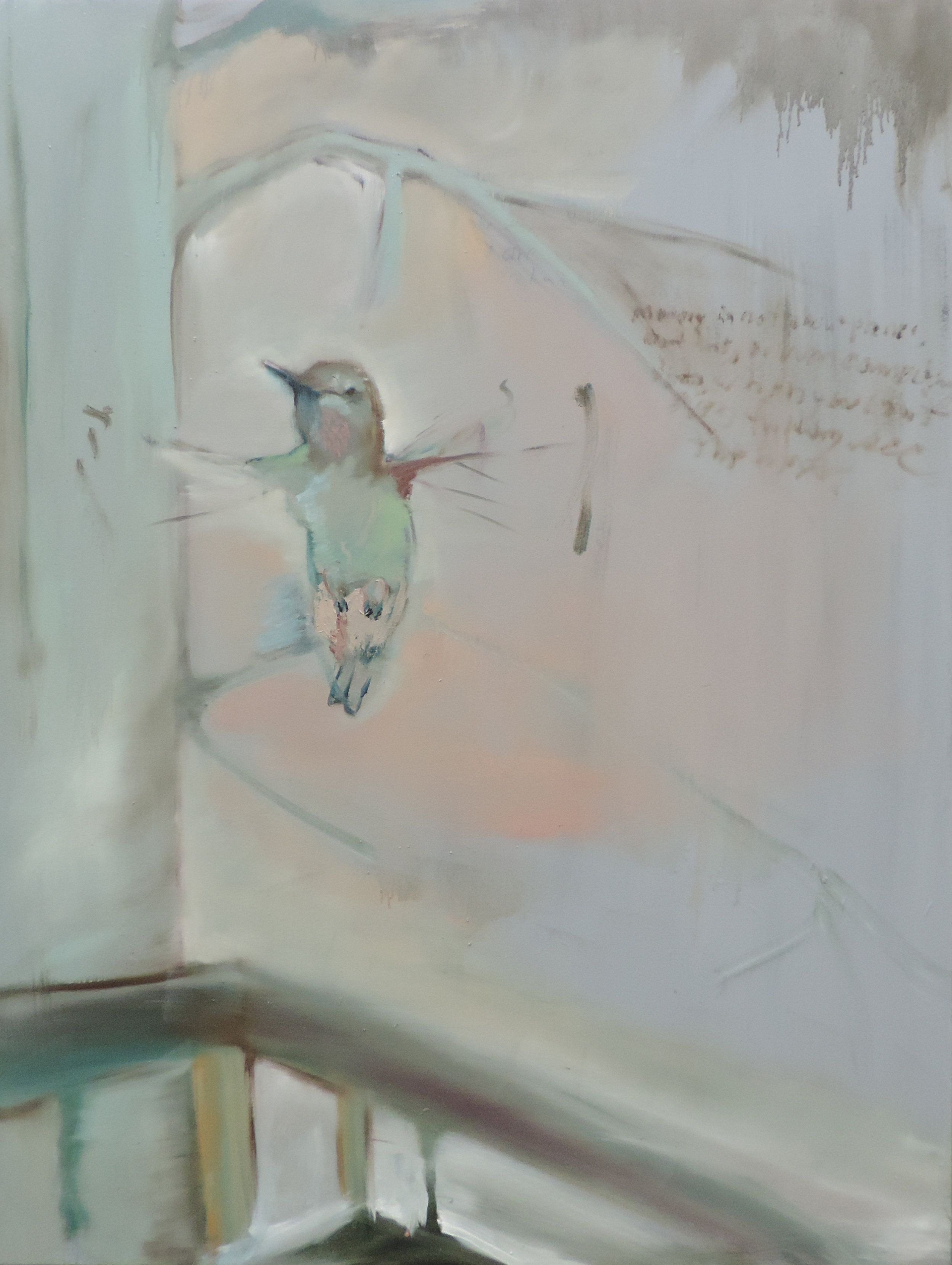 Memory of a Rufous  oil on canvas, 48x36 inches