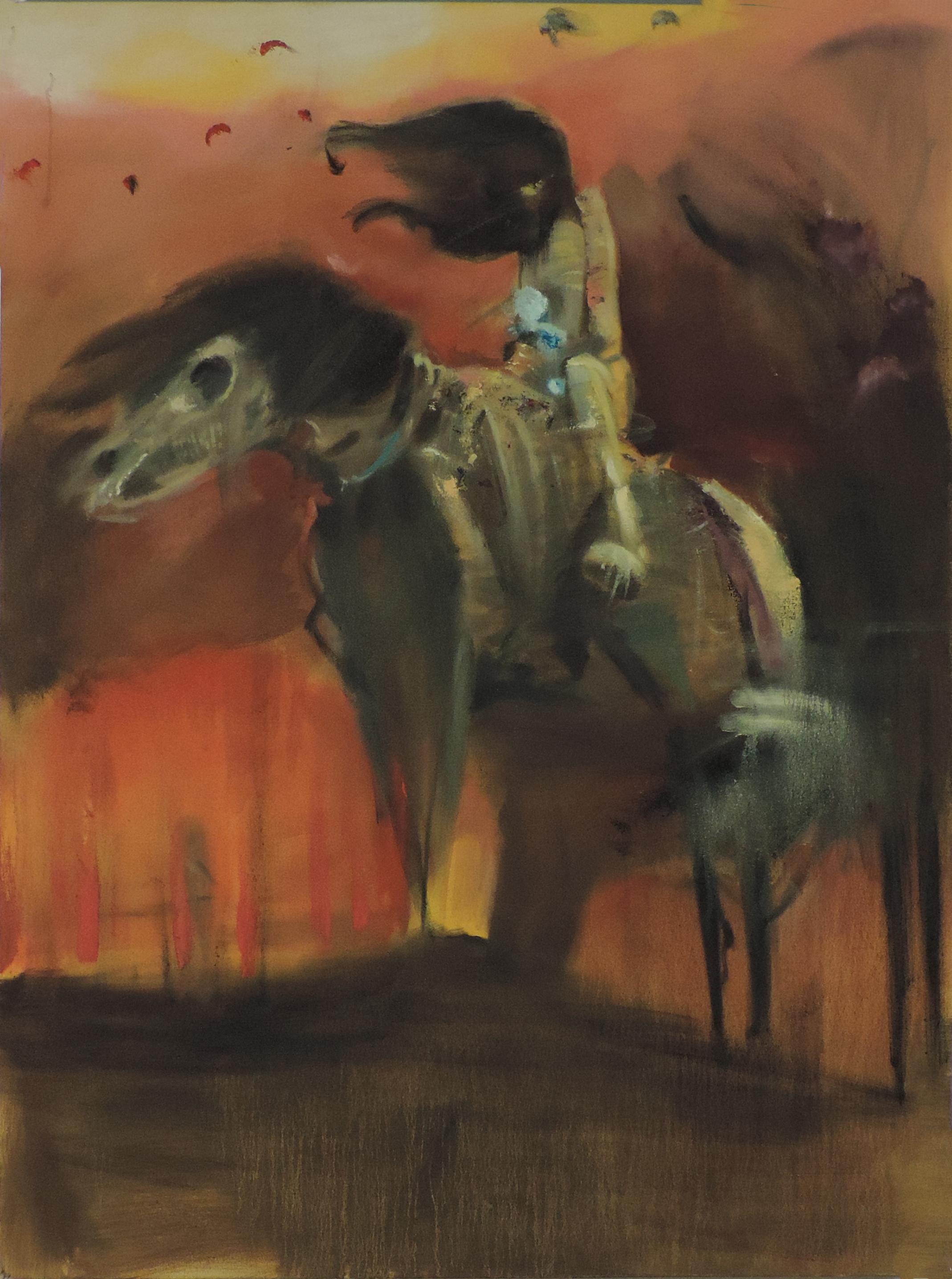 Copy of Beksinki (Untitled)  oil on canvas. 4 feet x 3 feet