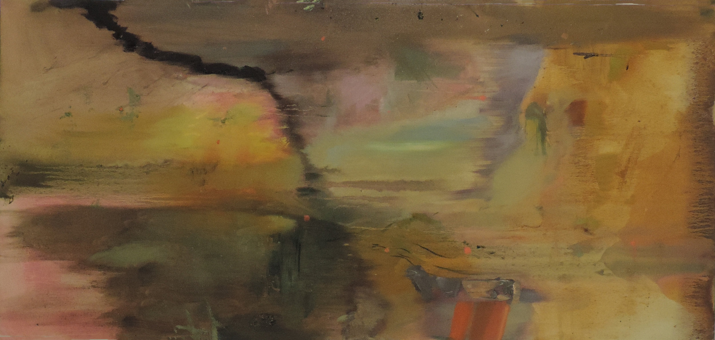 Stormfall (response to Andrea)  oil on canvas. 22.1 inches x 47 inches