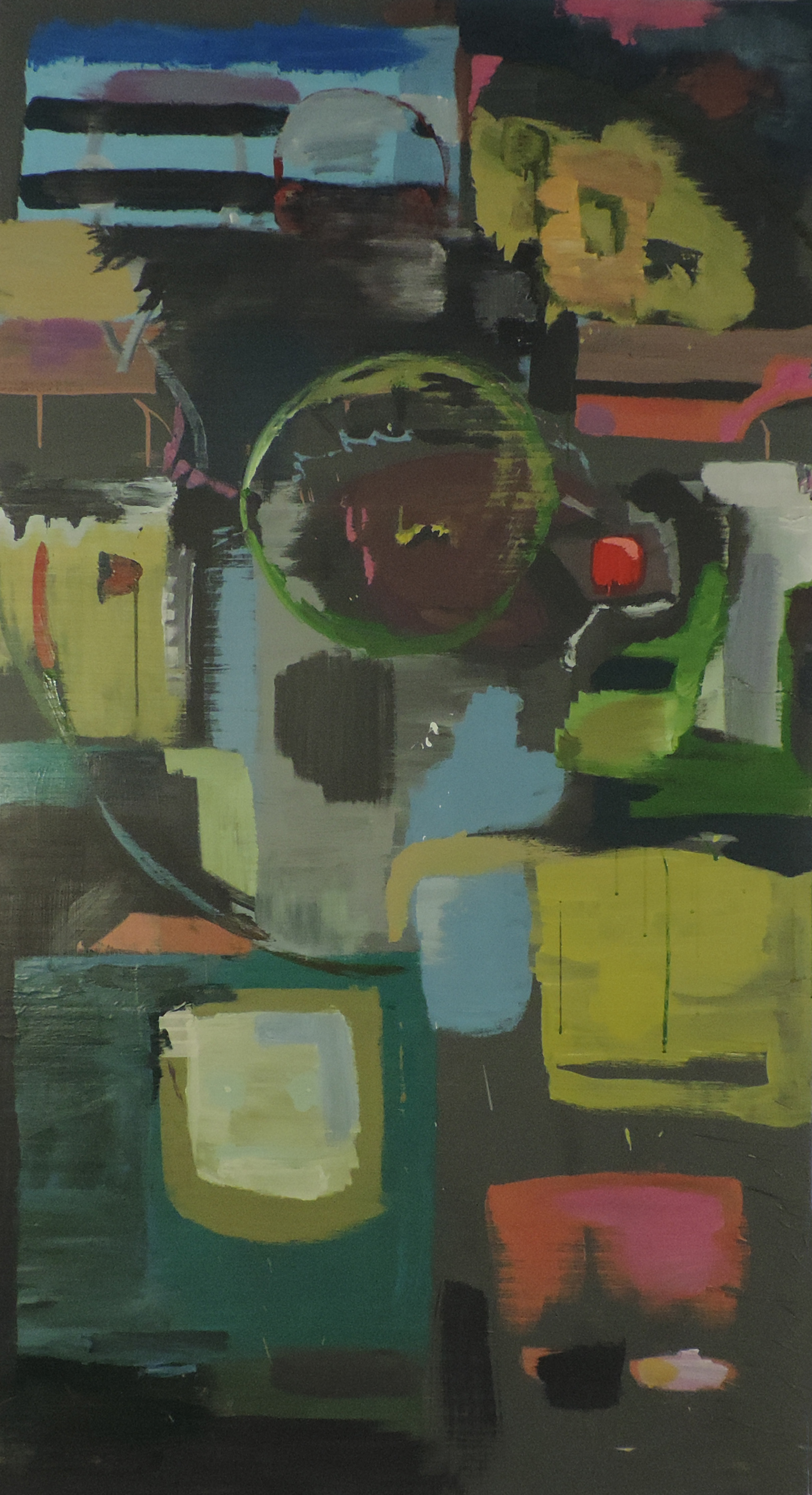 Selfie?  oil on canvas. 7 feet 3 inches x 4 feet