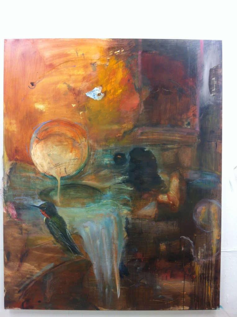 A Guide in Virgil  oil on plexiglas. 5 feet x 4 feet