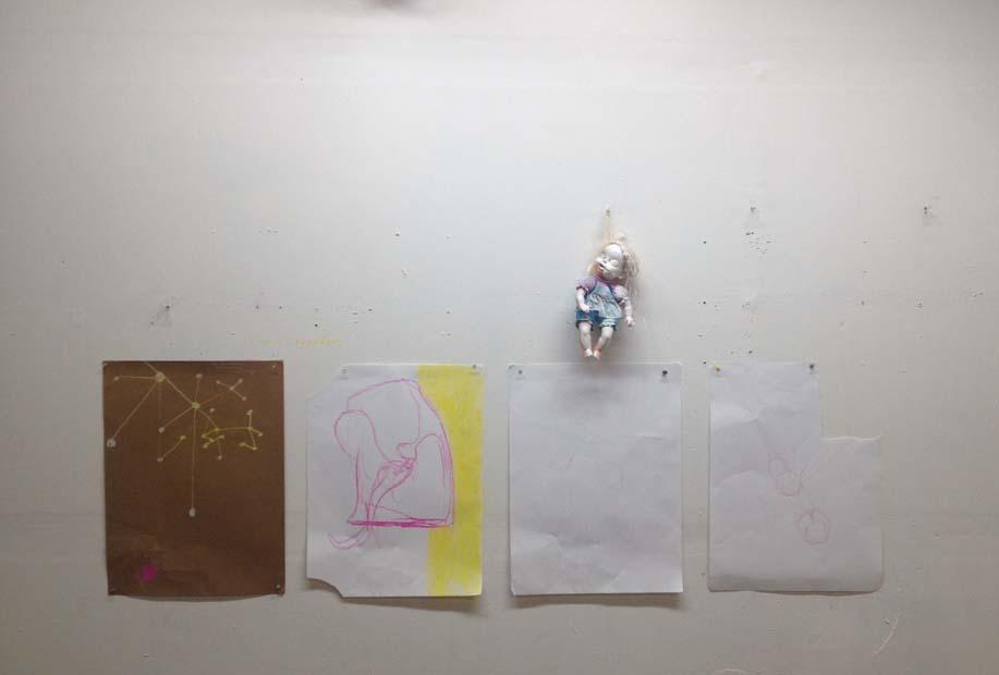 Petal splits  studio shot, multimedia installation