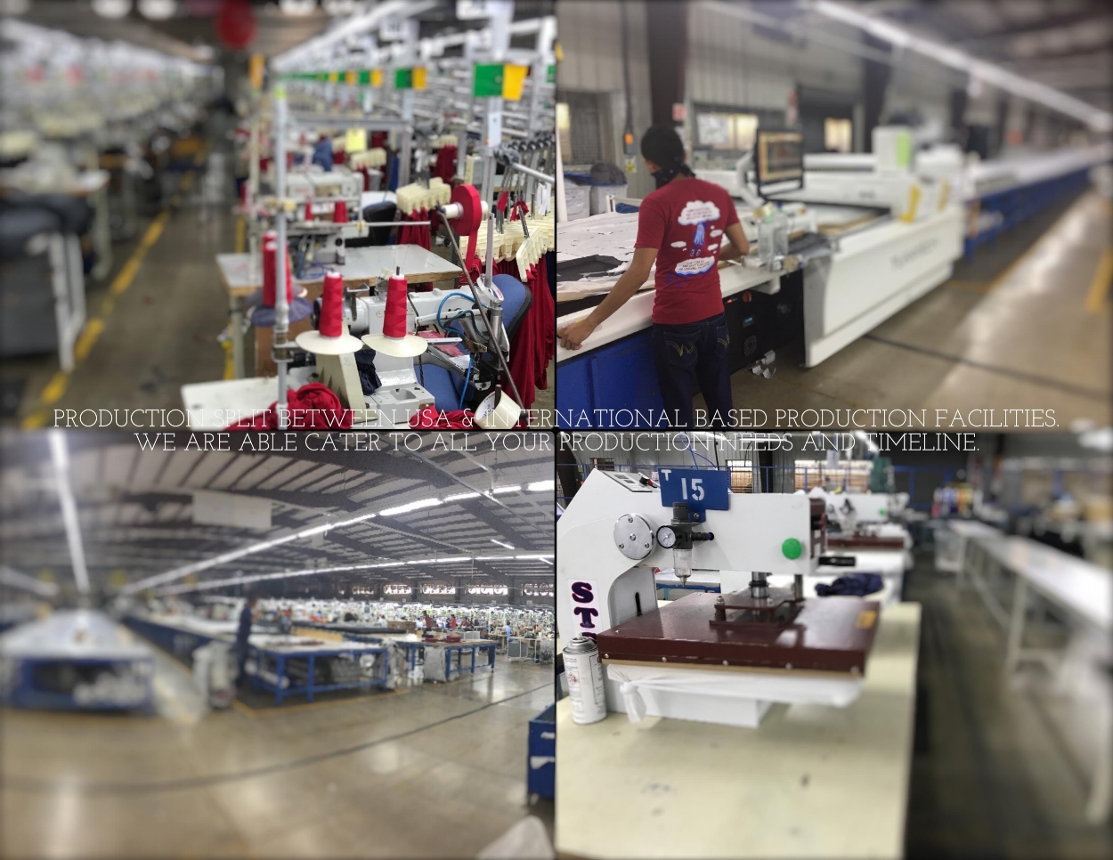 WE MANUFACTURE IN THE USA AND ALSO IN OUR INTERNATIONAL BASED PRODUCTION FACILITIES.