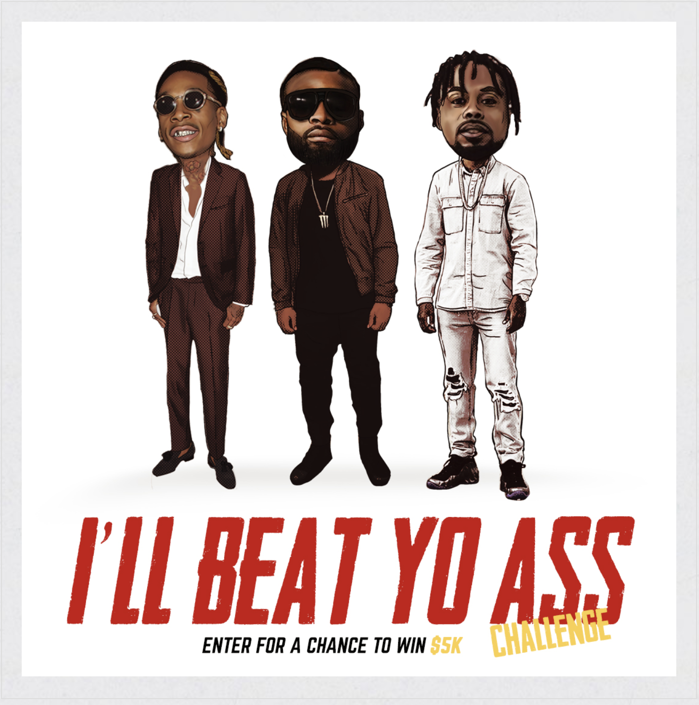 Tyron Woodley's new rap single, features Wiz Khalifa (far left) and T-DUBB-O (far right)