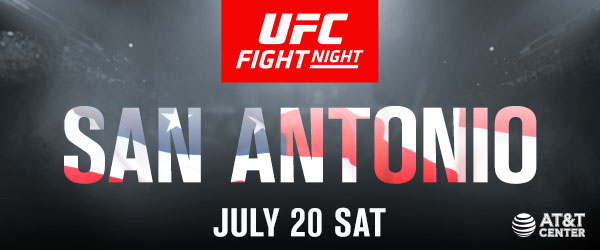 UFC FIGHT NIGHT ON ESPN®  TICKETS AT THE AT&T CENTER GO ON SALE FRIDAY, JUNE 7