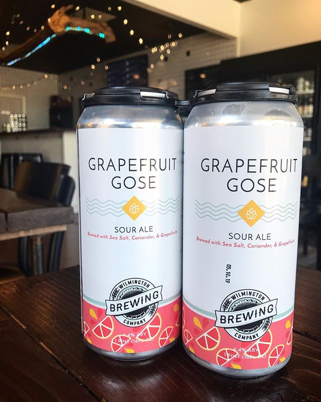 @wilmingtonbrewingcompany Grapefruit Gose now available at the Market. Refreshing. Summery. Grapefruitastic. That's a word, we checked. You're welcome.  #craftbeer #wilmington #wilmingtonnc #wilmingtonbeer #ncbeer #local #portcity #sessionbeermarket #sessionbm #LitAF