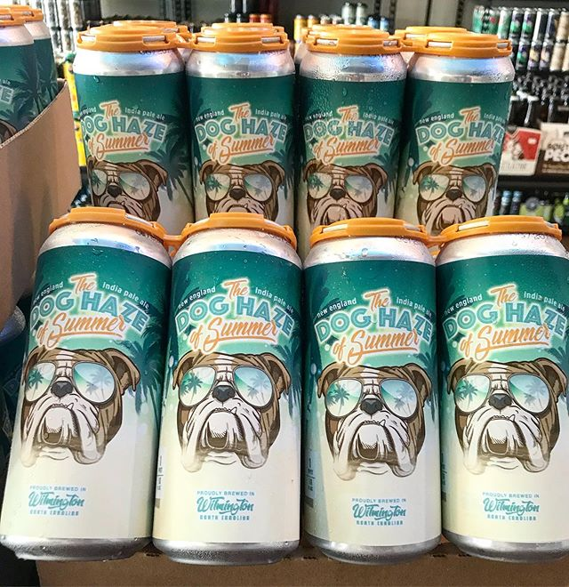 Reintroducing @billsbrewingco Dog Haze of Summer. Available at your local Market. It's funny because haze sounds like days. And this beer isn't filtered. Thanks for coming to our @ted talk.  #craftbeer #wilmington #wilmingtonnc #wilmingtonbeer #ncbeer #local #portcity #sessionbeermarket #sessionbm #LitAF