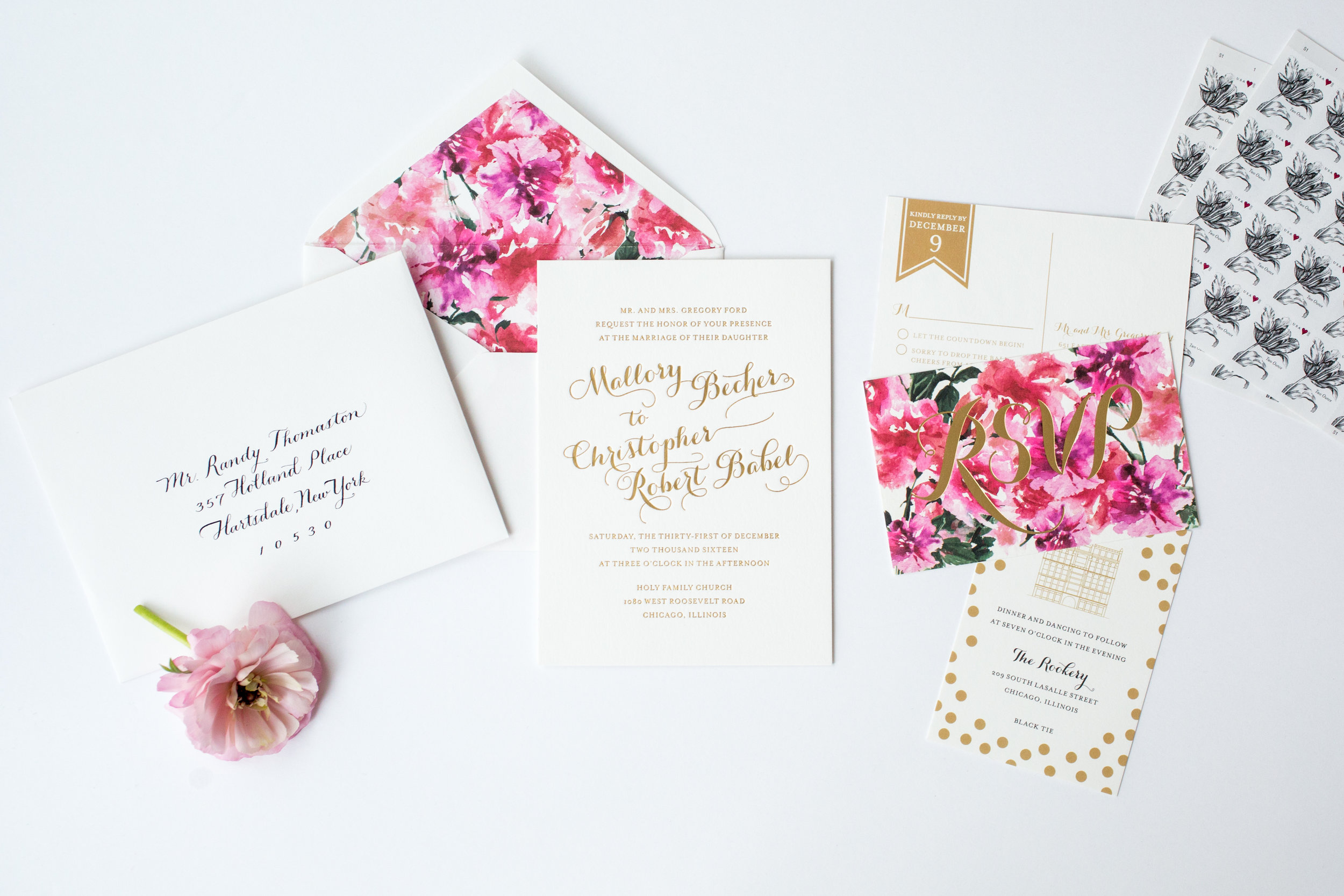 magnificent milestones | wedding invitations | garden collection
