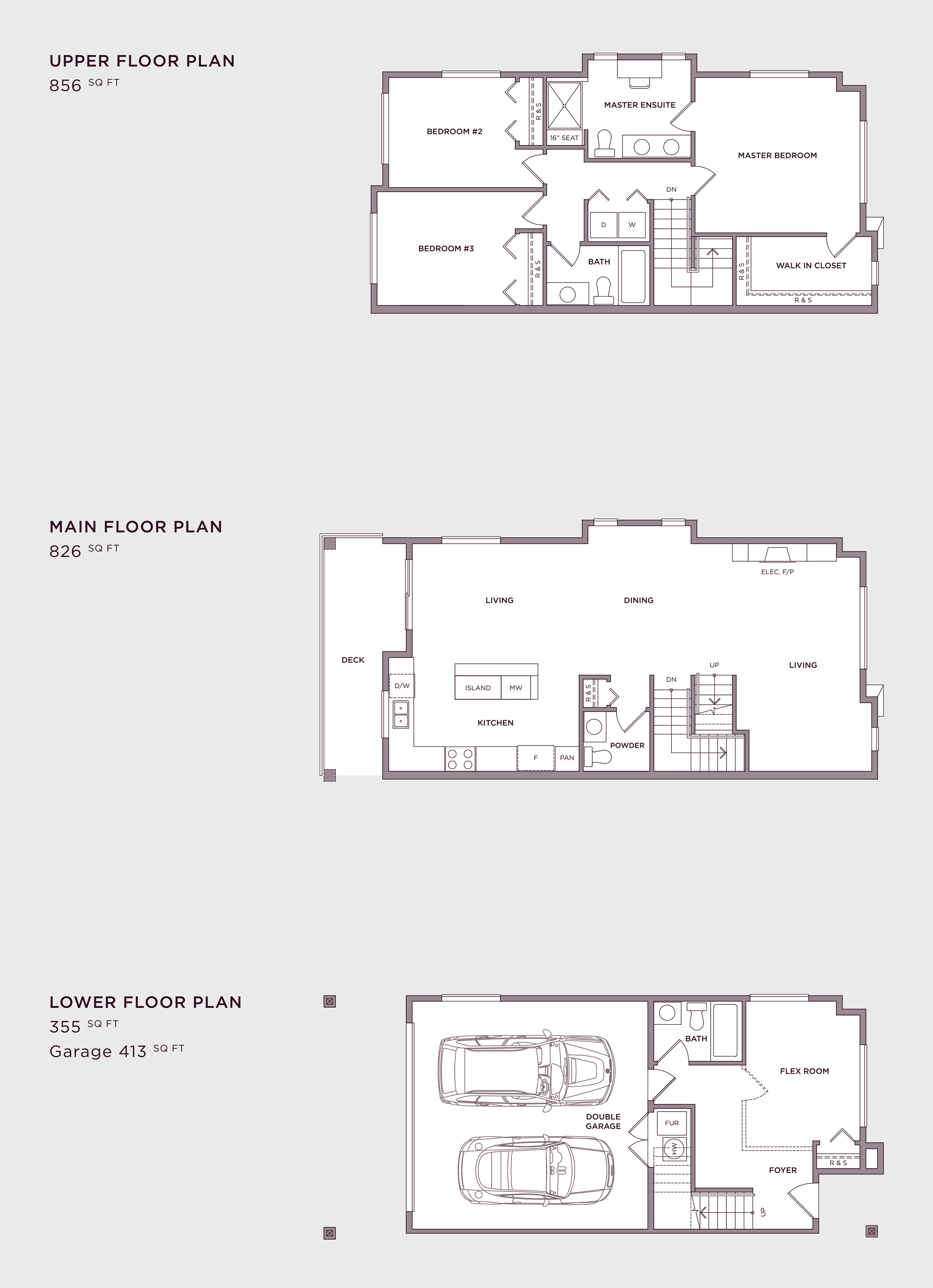Plan A1 Imperial Townhome