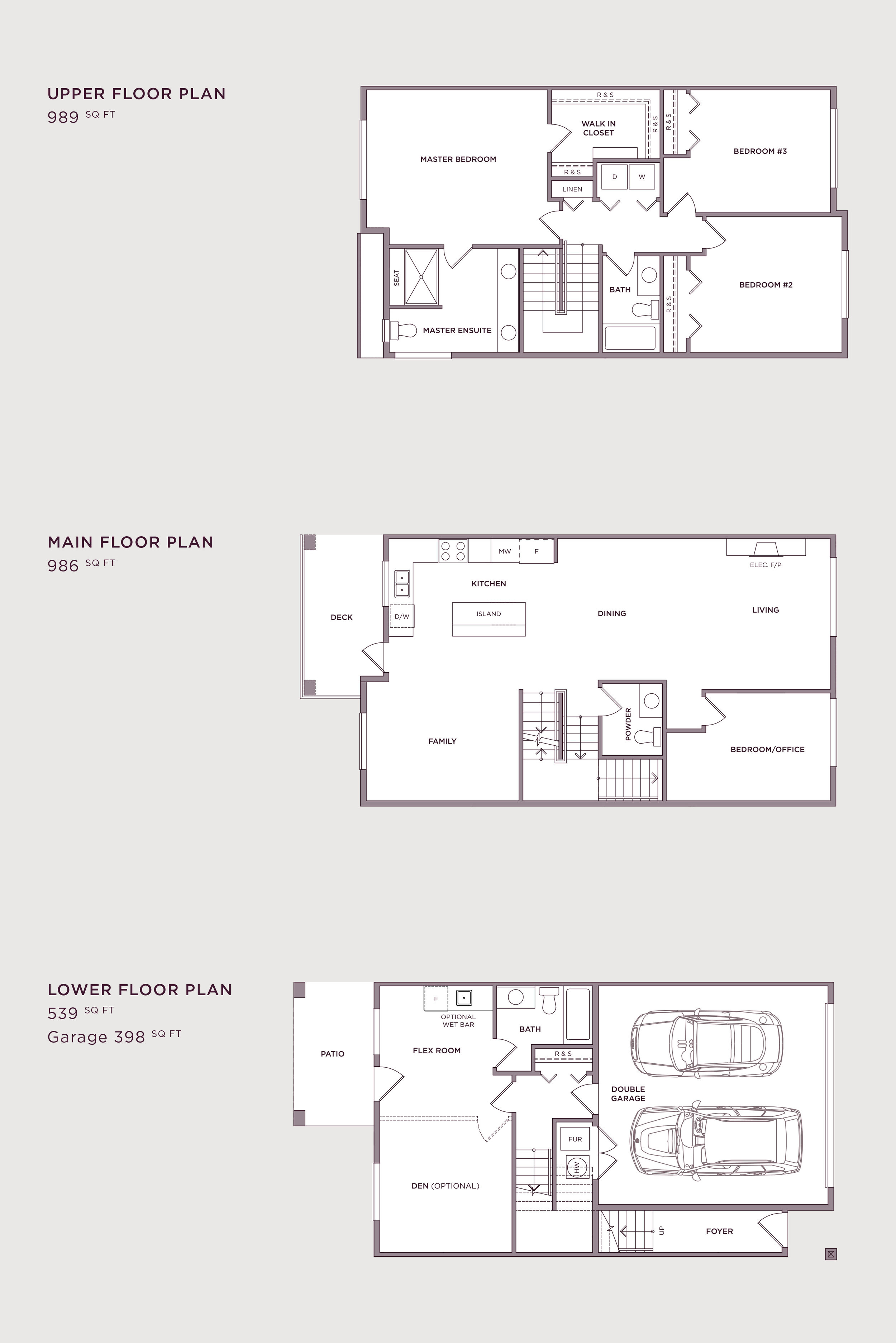 Plan B1 Imperial Townhome