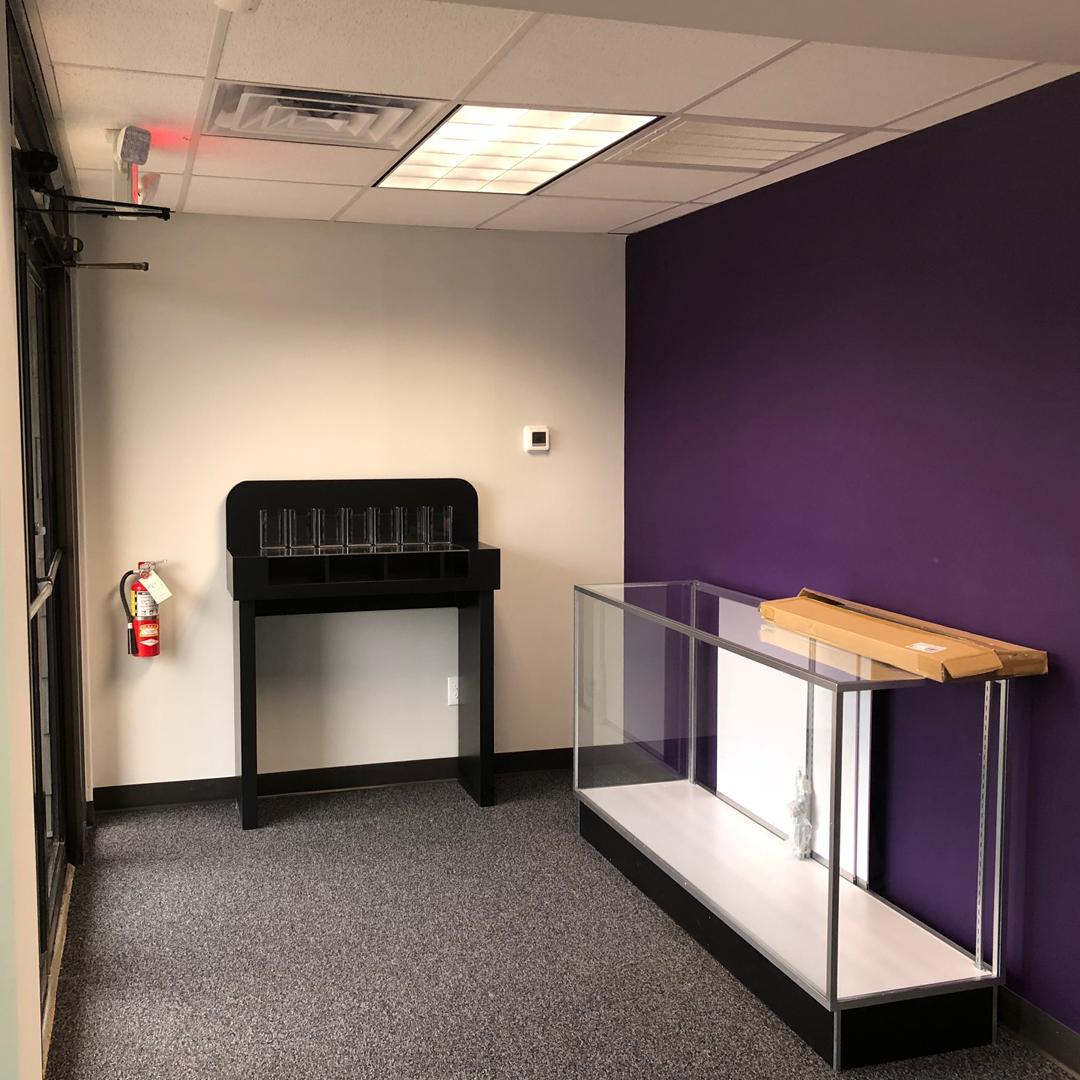 New branch remodeling in progress - side entrance