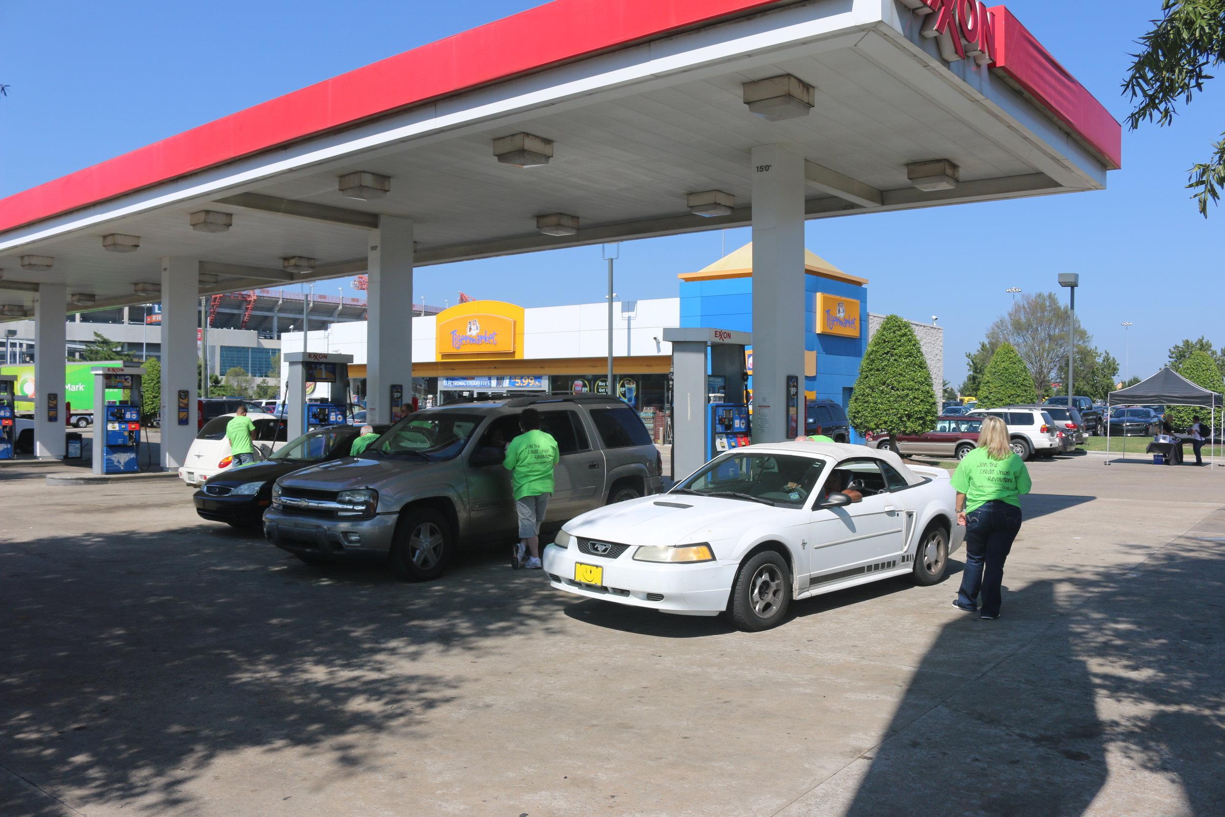 Credit Union Gas Mob 9 19 2014.JPG