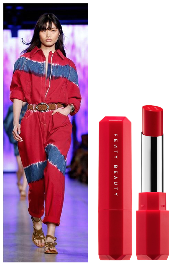 Cool Popsicle - Diseñador: @albertaferrettiLabial: FENTY BEAUTY by Rihanna Poutscile Juciy Satin Lipstick tono Juicy Candy Apple