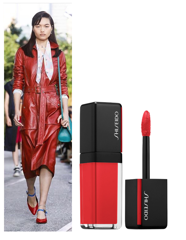 Patent Leather - Diseñador @coachLabial: SHISEIDO Laquer Ink Lip Shine en tono Hight Shine Finish