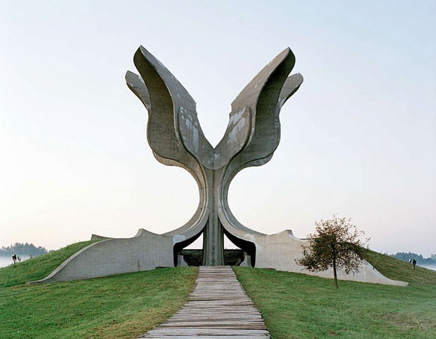 Jasenovac monument dedicated to for the victims of the Jasenovac Nazi concentration camp, Croatia