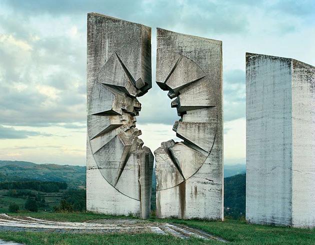 Kadinjaca monument dedicated to the troops of Workers Battalion, by Miodrag Zivkovic in Uzice, Serbia