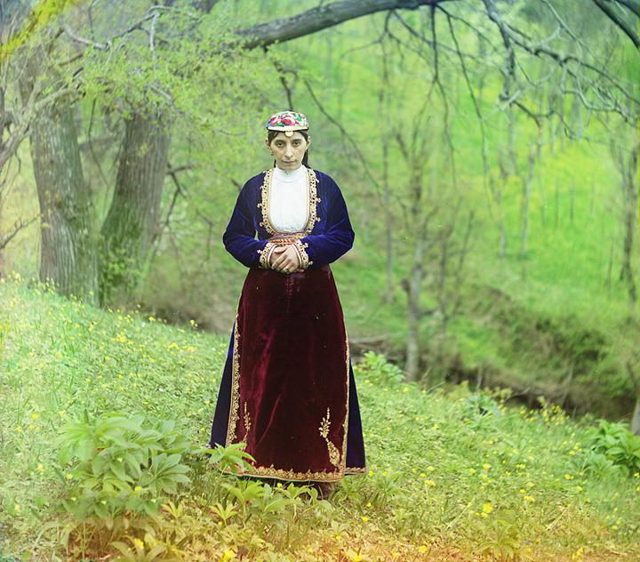 Woman in national costume. Artvin. 1905-1915.
