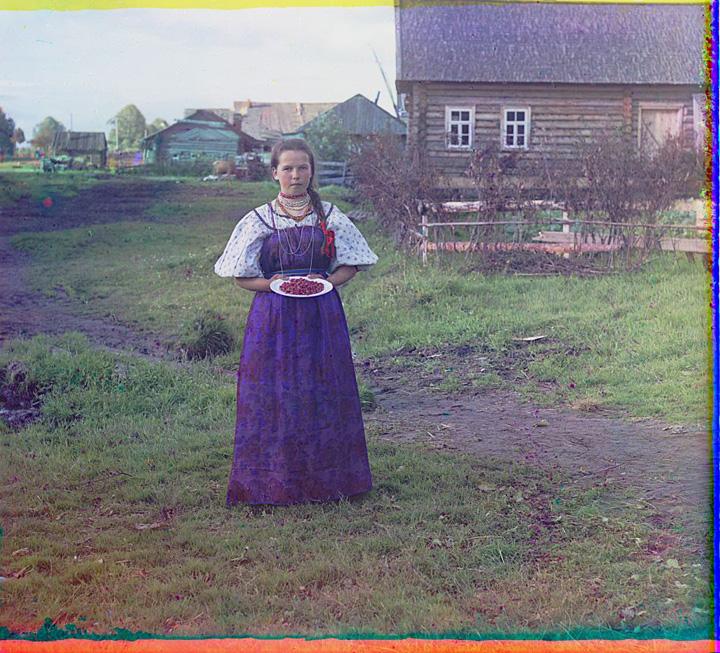 A Girl with Strawberries in Vologda Guberniya