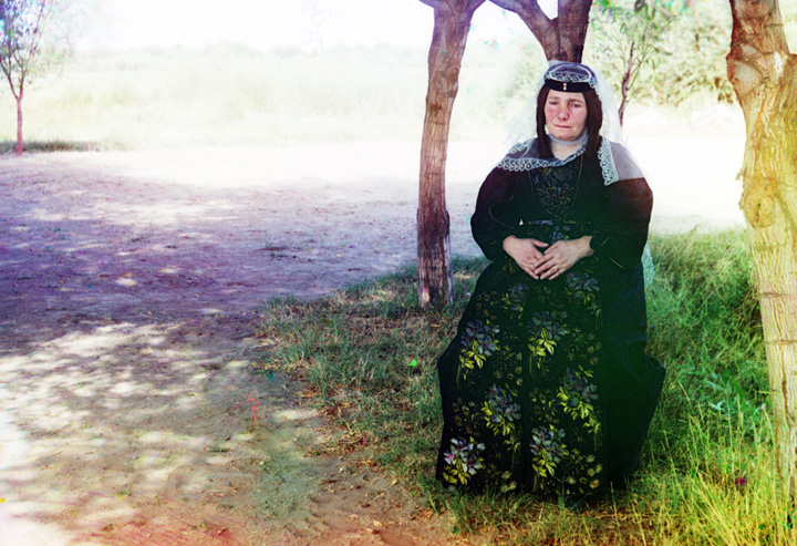A Georgian woman poses for a photograph, ca. 1910.