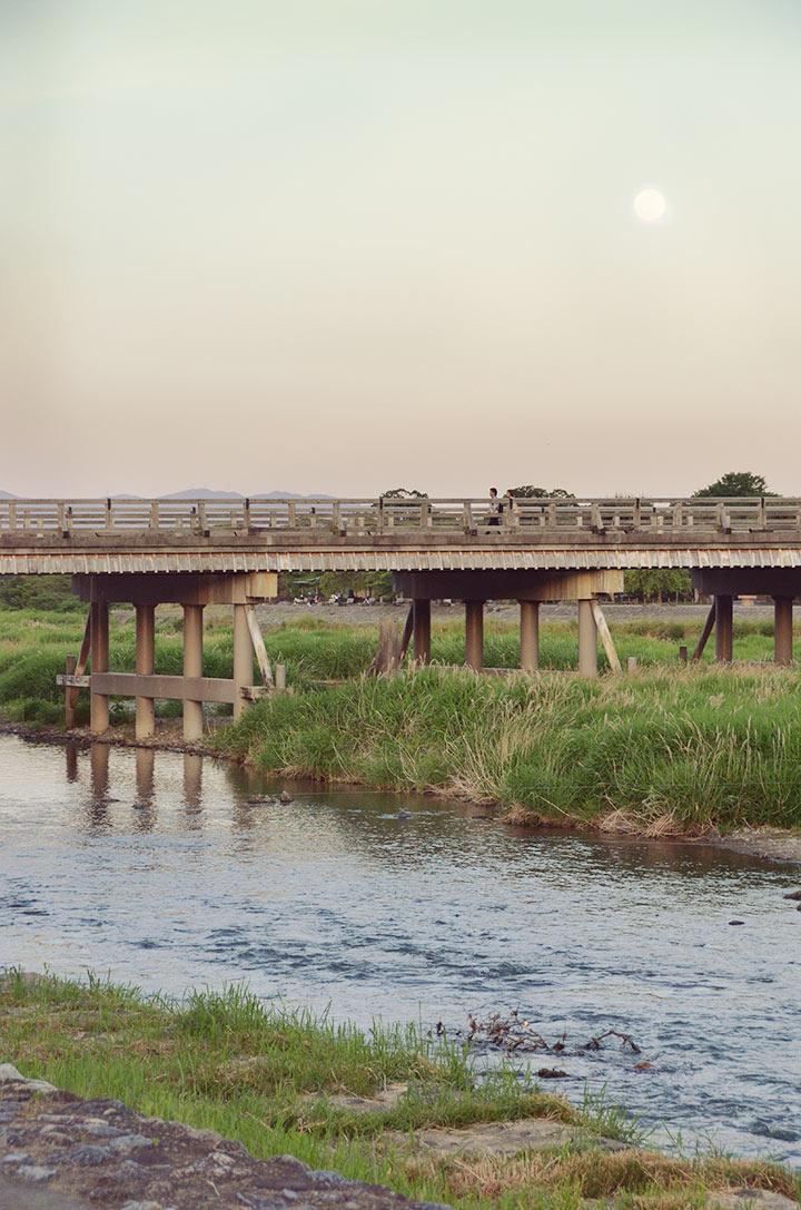 """Moon Crossing Bridge"" over the Ōi River"
