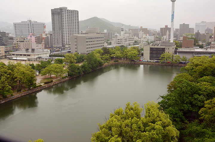 The view from Hiroshima castle