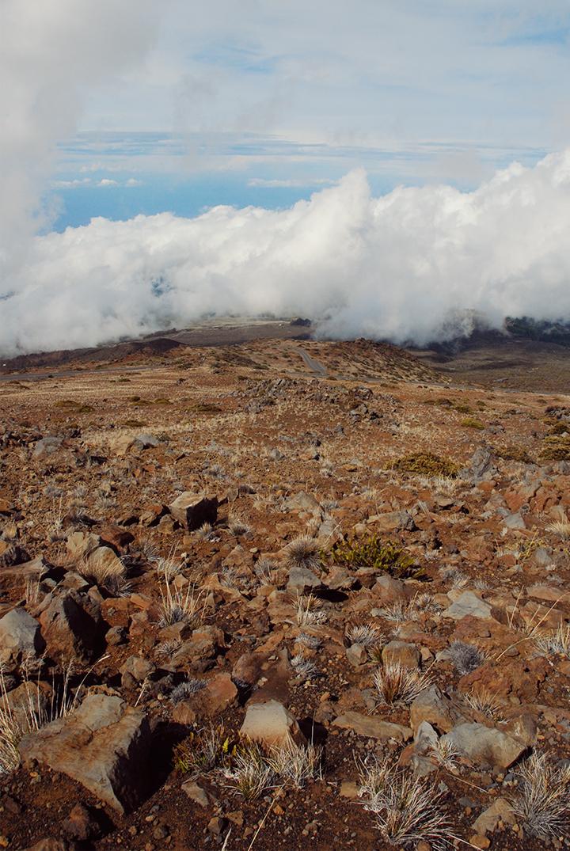 Clouds encroach on Haleakala