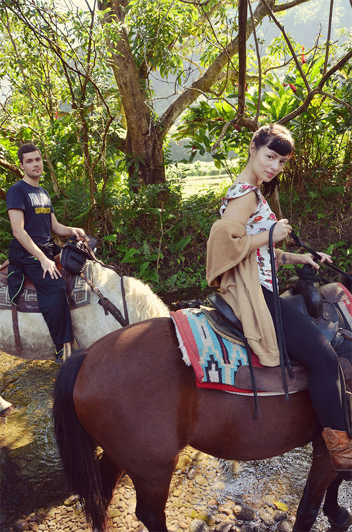 Waipio on horseback
