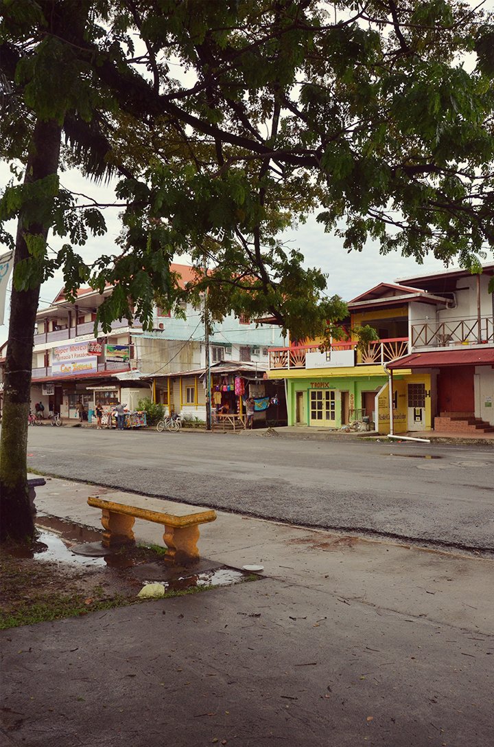 The main square in Bocas Town
