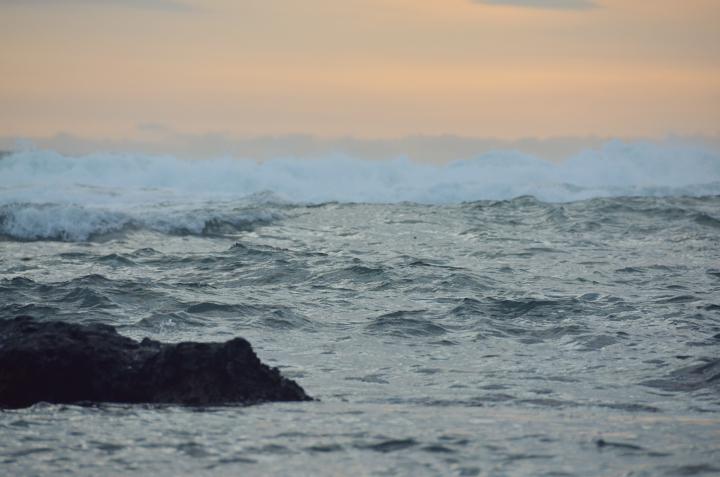 Puerto Viejo beach at dawn