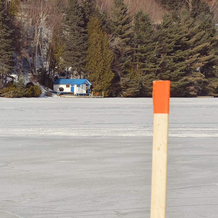 Skating on Lac Masson