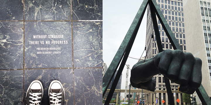 The Fist (Joe Louis monument) by Frederick Douglass, Detroit