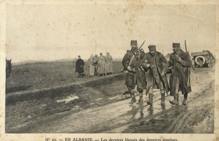 Serbian soldiers in Albania (Source: Musée des Arts Décoratifs, National Library of Serbia, digital archives)