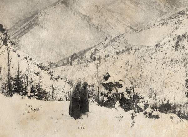 King Peter I in the Albanian mountains