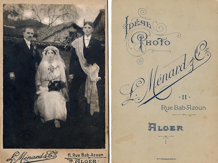Anka and Milivoje Simić (left) on their wedding day. Algiers, 1916. (Photo by L. Ménard & Co. from the Janićijević family album)