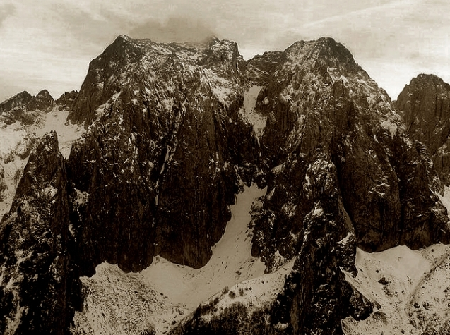 """Prokletije (meaning """"Damned"""") mountain range, also known as the Albanian Alps"""