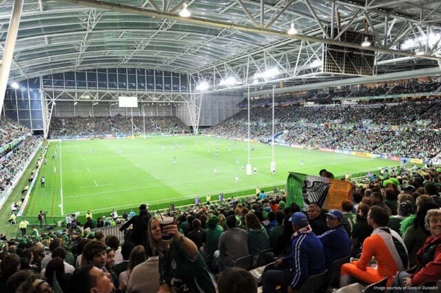 Dunedin - Forsyth Barr Stadium   One of the highlights of a British and Irish Lions Tour is the fact that they travel and play all across New Zealand, giving rugby fans from North to South the opportunity to witness the games and feel what it's like to be part of the atmosphere that surrounds a Lions tour. Dunedin will play host to the fourth warm up game of the tour when the Lions will take on the mighty Highlanders. They love their rugby down in the Otago region and another sell out is expected. Dunedin's Forsyth Barr Stadium is a cracking place to watch a game of rugby and as the world's only natural turf indoor arena, it creates quite an atmosphere. It will be the first time the Lions have played in the stadium and they can expect a raucous welcome from a partisan crowd.