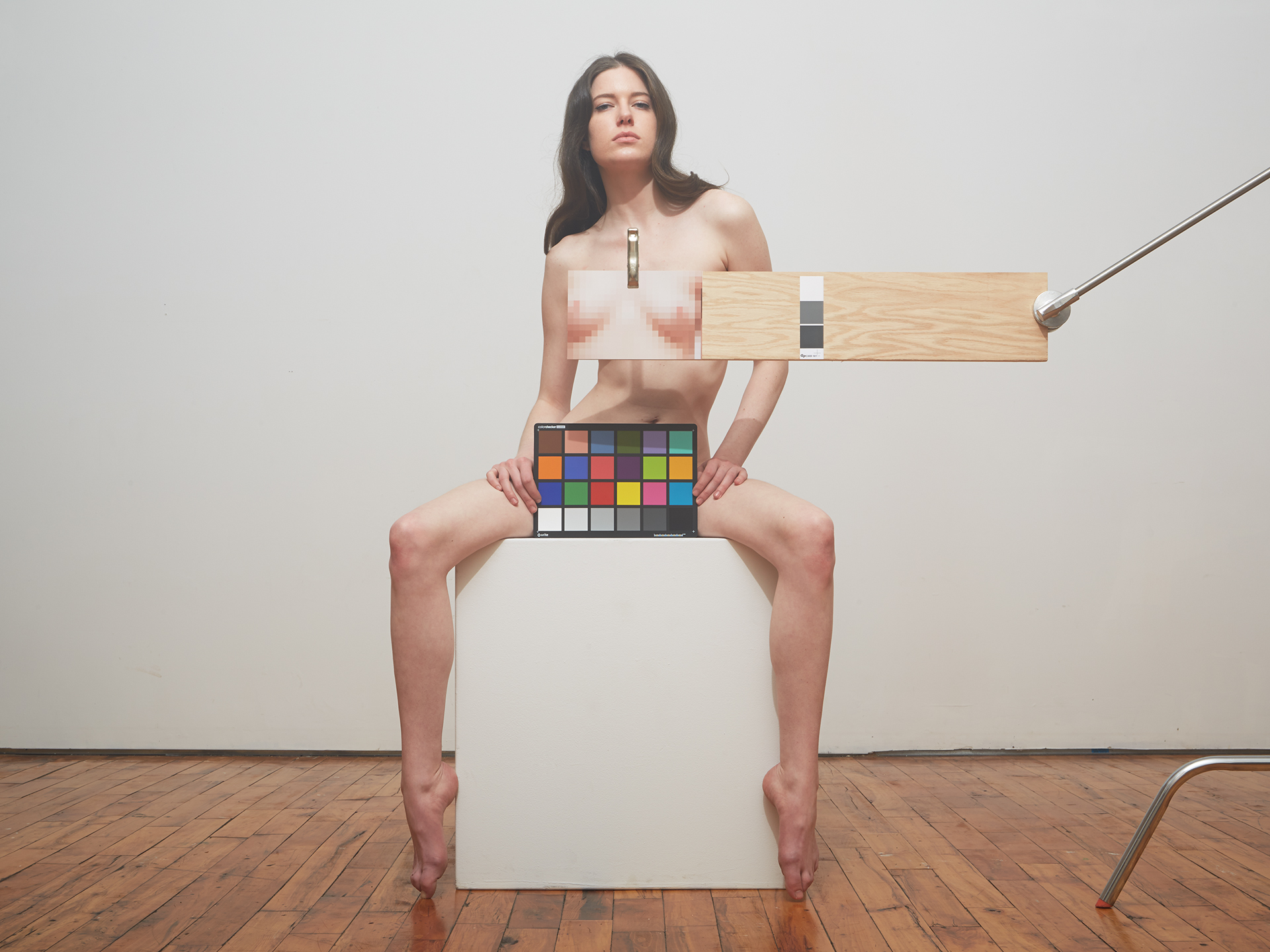 Cristi with Mosaic and Color Checker  2015