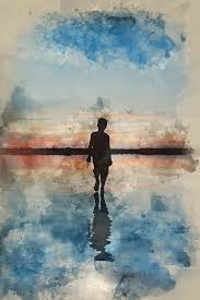 Young Boy Walking On Water, by Matthew