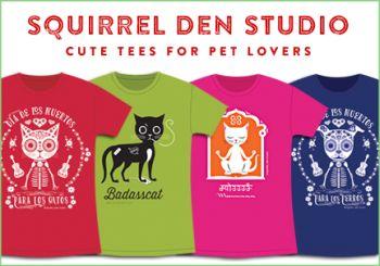We create fun, happy tee shirts & baby onesies.   www.squirreldenstudio.com