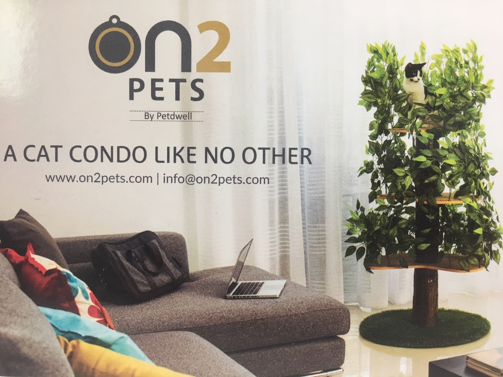 ON2 Pets by petdwell   a cat condo like no other.  info@on2pets.com