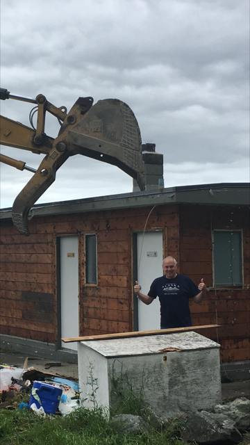 End of the James Bay Old Clubhouse. Photo by Jack Thames